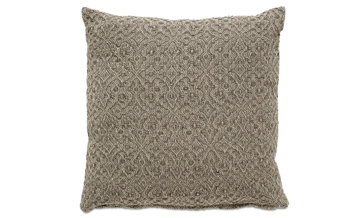 Cushions - Jacquard cushion - Yellow - Fabric