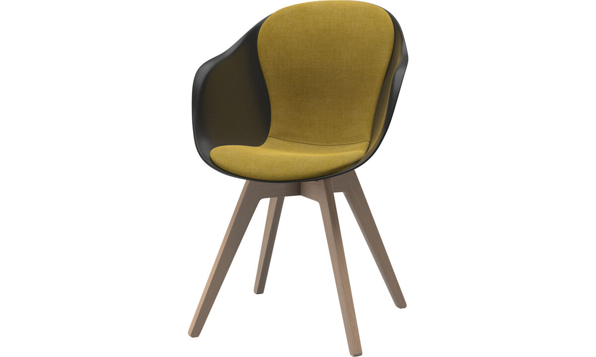 Sillas de comedor - silla Adelaide - En amarillo - Tela