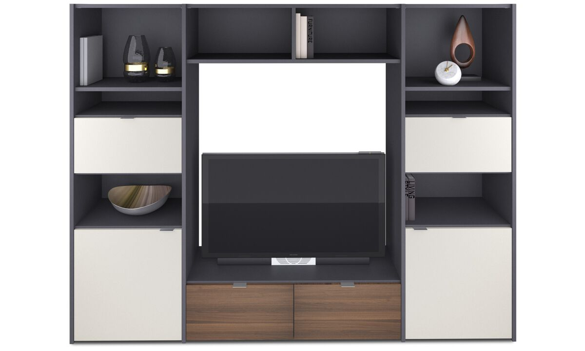Wall Units - Copenhagen wall system - Grey - Lacquered