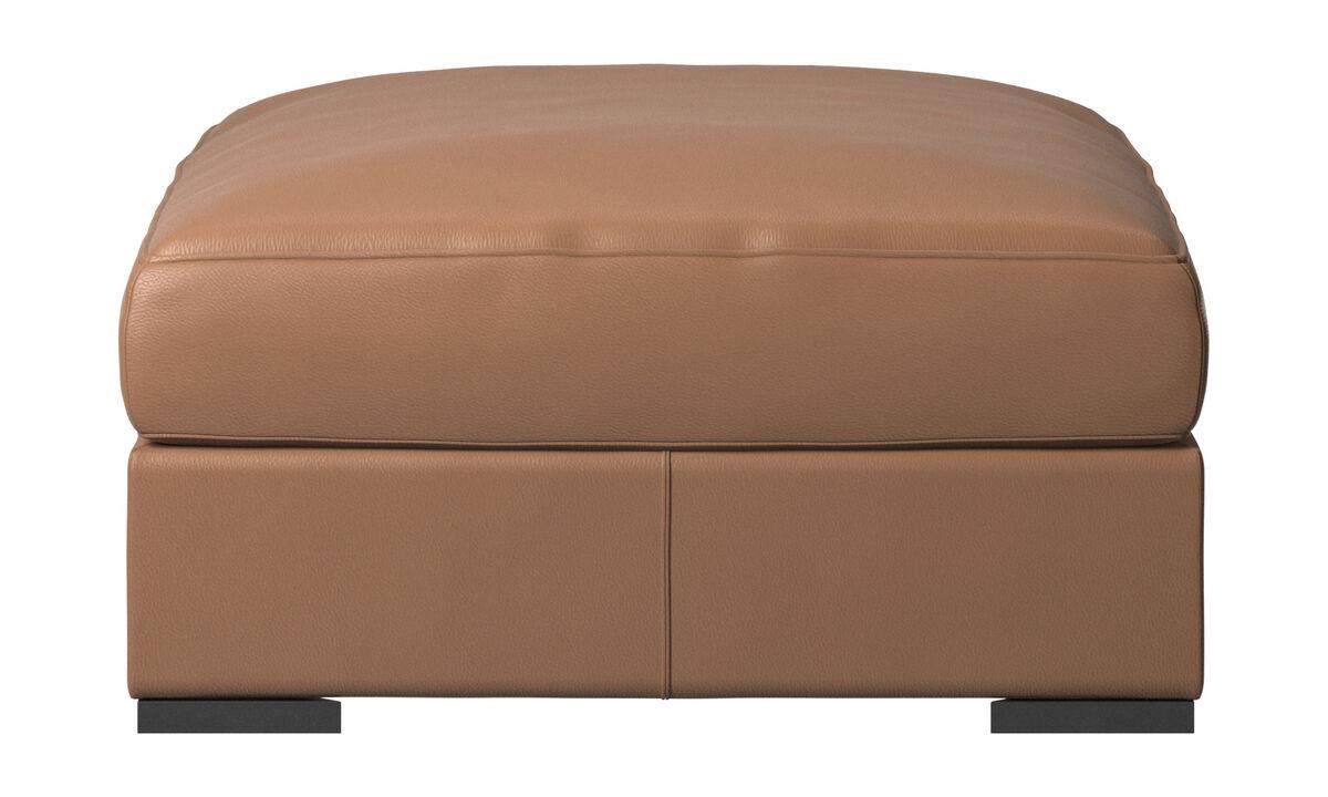 Footstools - Cenova footstool - Brown - Leather