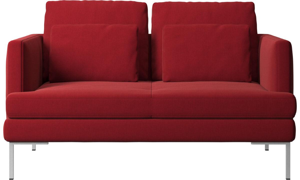 Sofás de 2 lugares - Sofá Istra 2 - Vermelho - Tecido