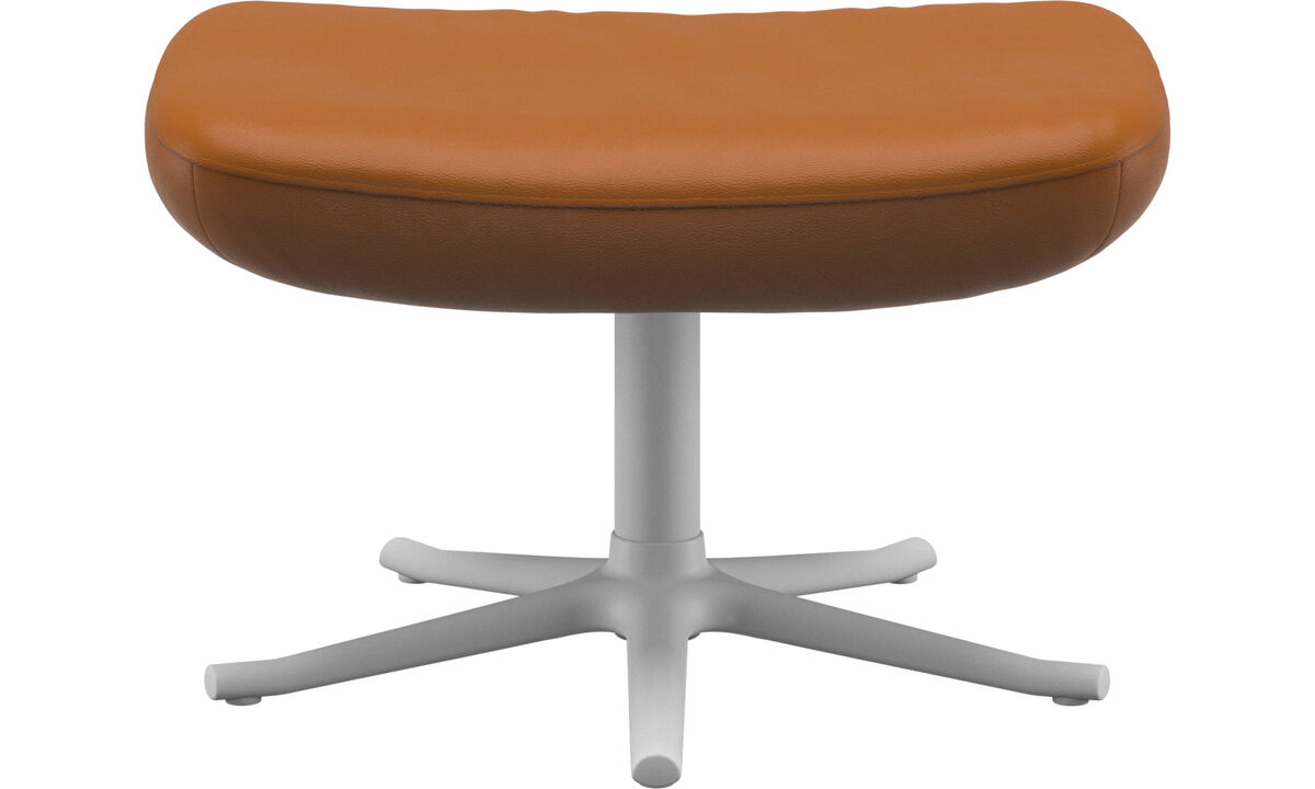 Footstools - Lucca footstool - Brown - Leather