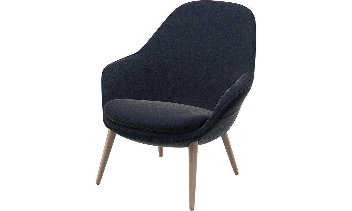 Shop - Adelaide living chair - Blue - Fabric