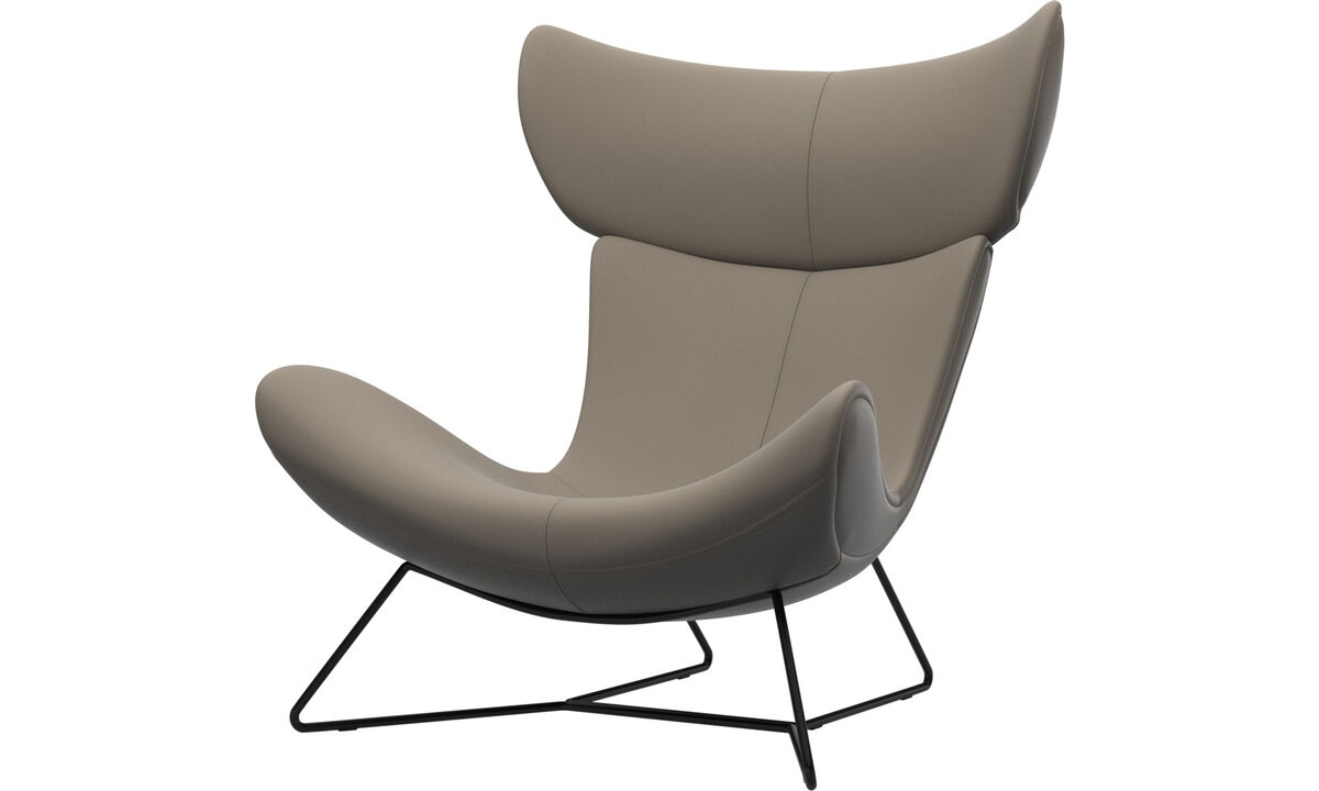 Armchairs - Imola chair - Beige - Leather