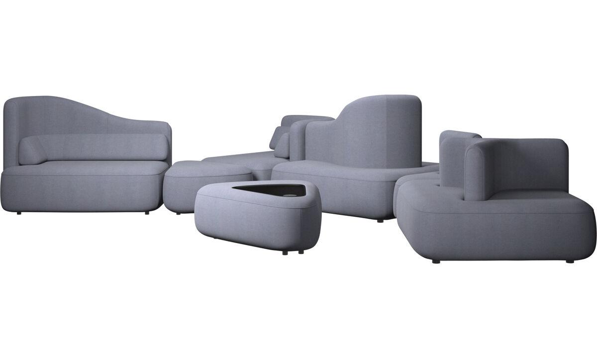 Modular sofas - Ottawa sofa - Blue - Fabric