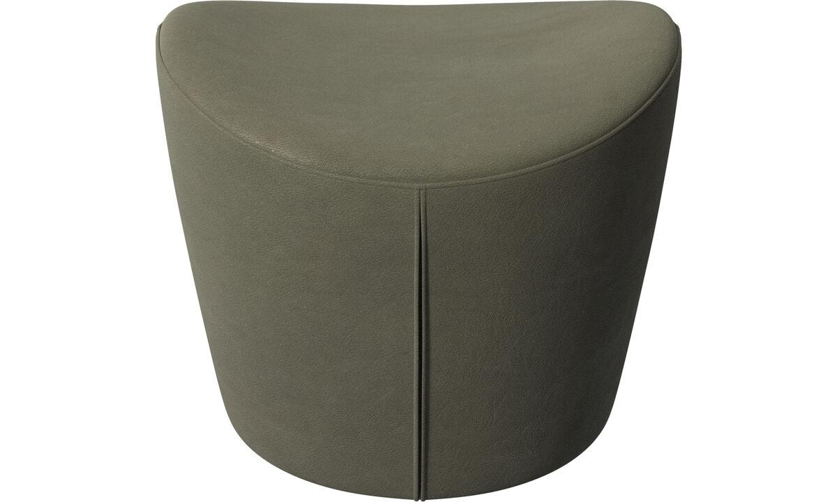 Footstools - Rico footstool - Green - Leather