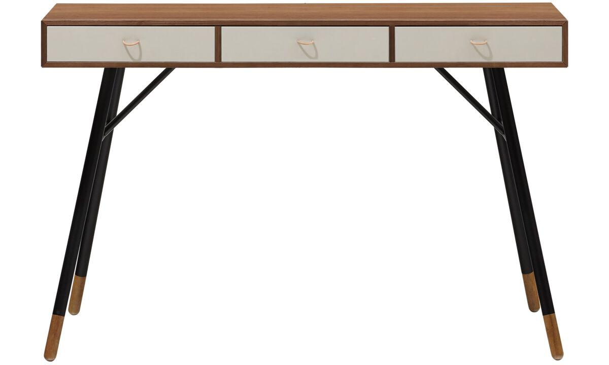 Muebles para recibidor - Consola Cupertino - rectangular - En marrón - Nogal