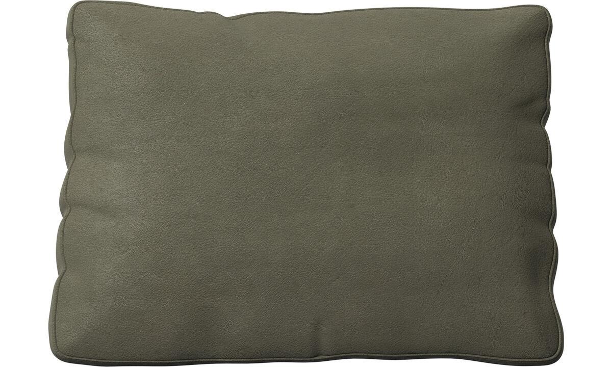 Miami cushion - Green - Leather