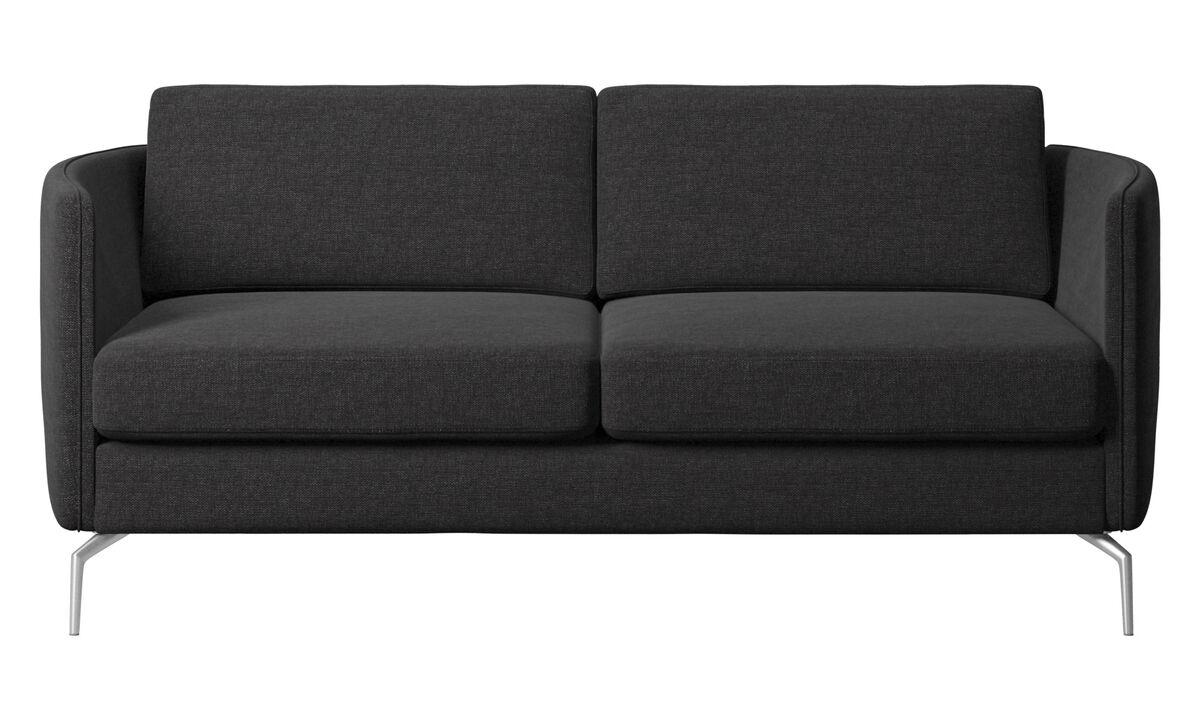 2 seater sofas - Osaka sofa, regular seat - Black - Fabric
