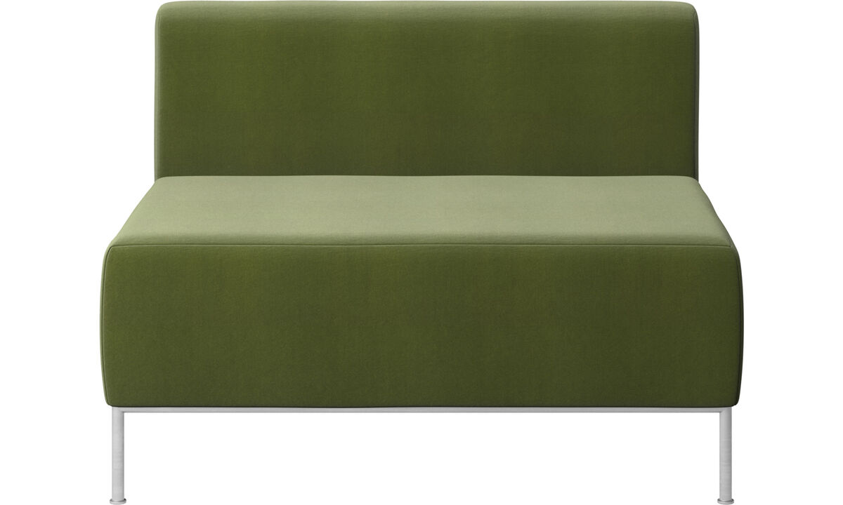 Armchairs - Miami seat with back - Green - Fabric