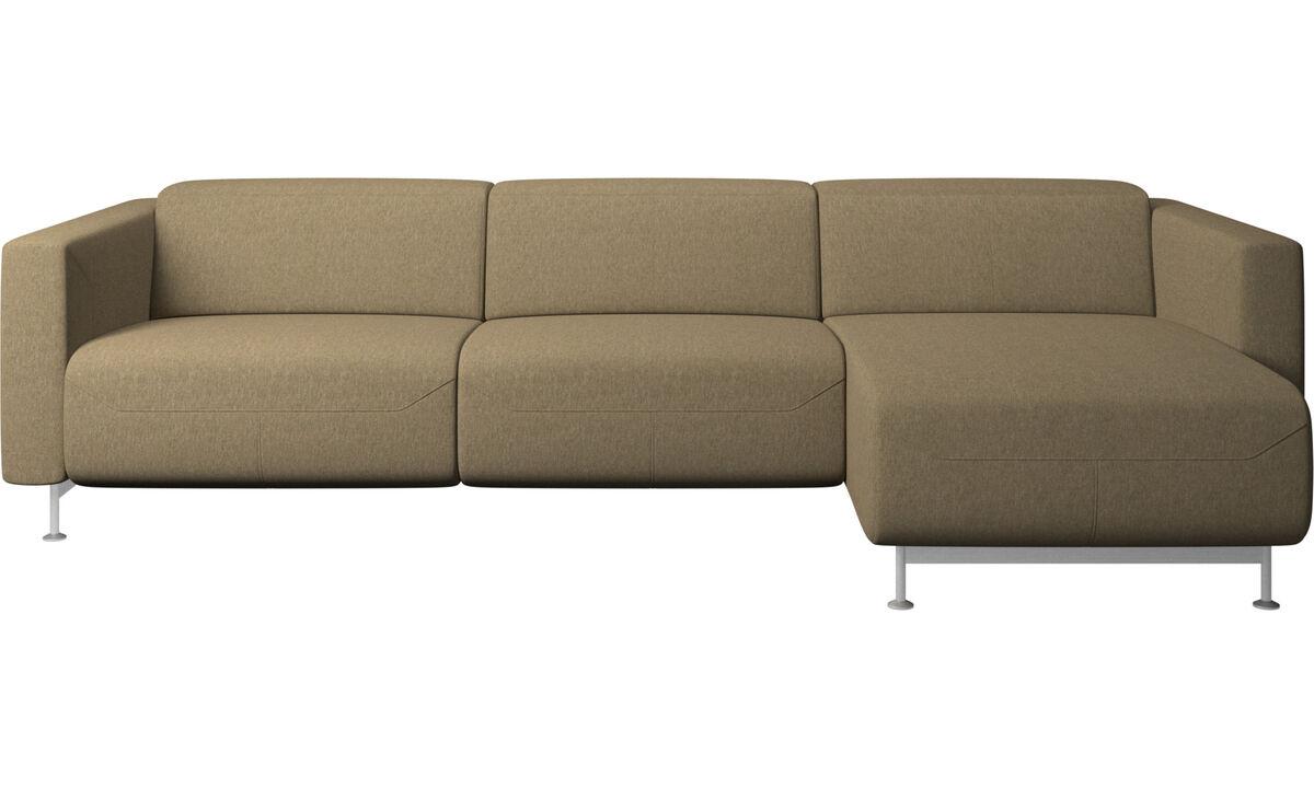 Relax-Sofas - Parma Sofa mit Ruhemodul - Grün - Stoff