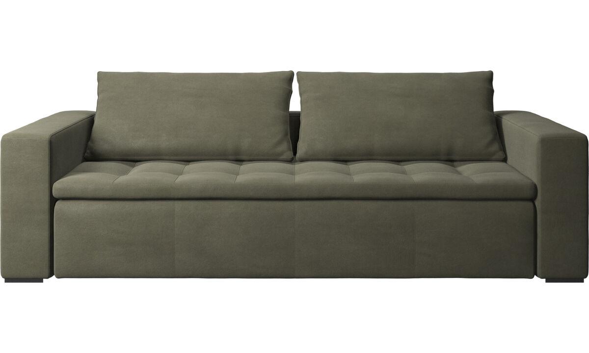 3 seater sofas - Mezzo sofa - Green - Leather