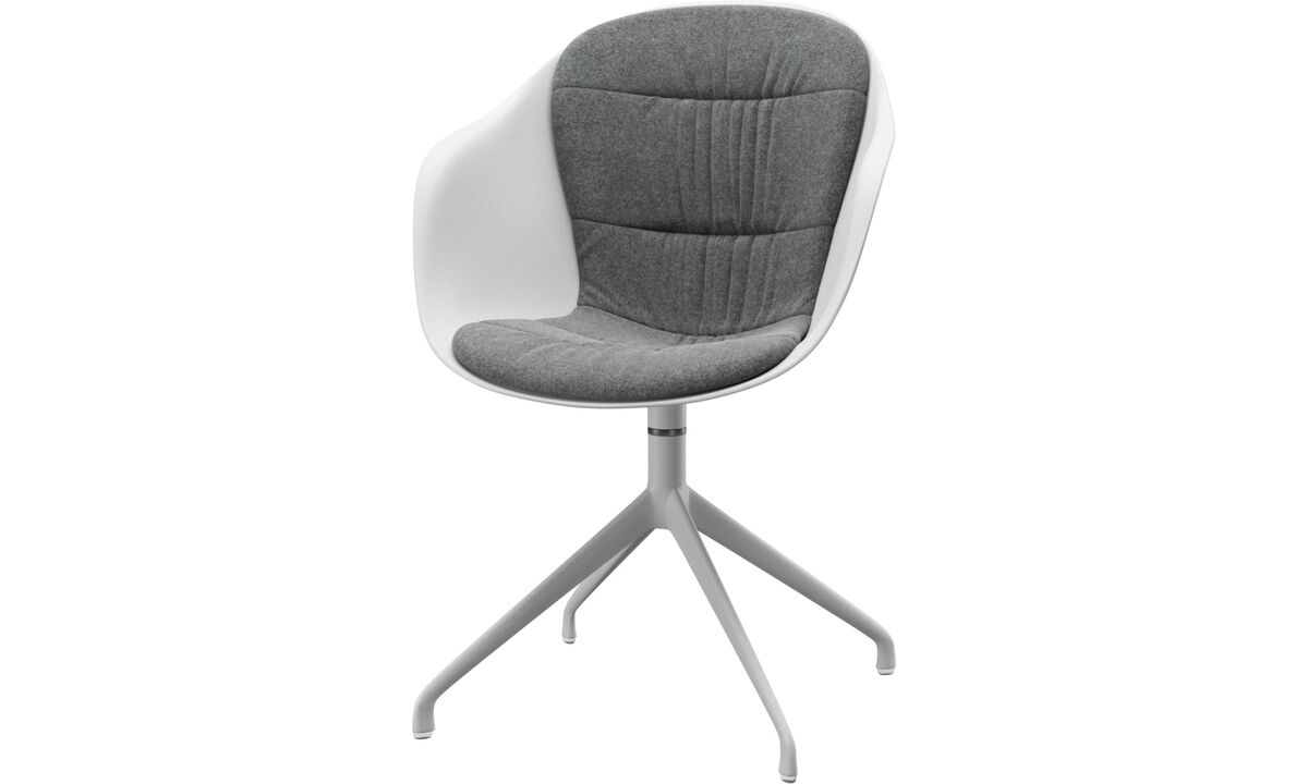 Dining chairs - Adelaide chair with swivel function - Gray - Fabric