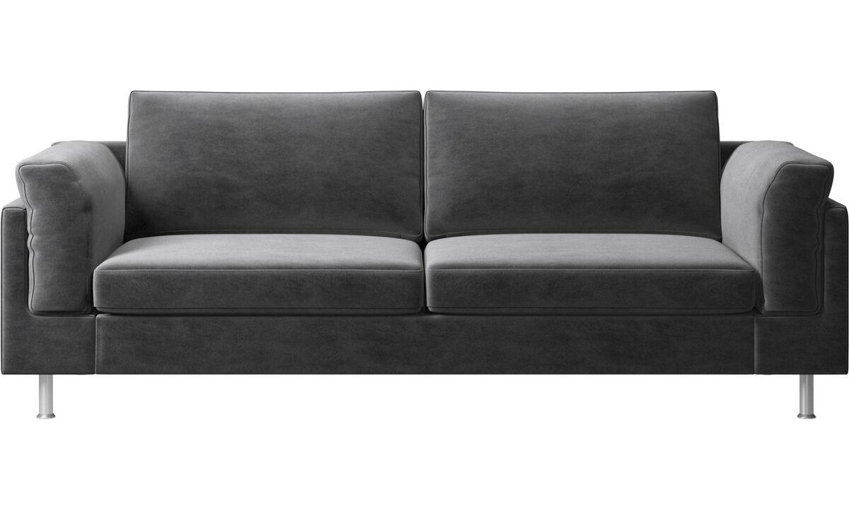 2½-sitzer Sofas - Indivi 2 Sofa - Grau - Stoff