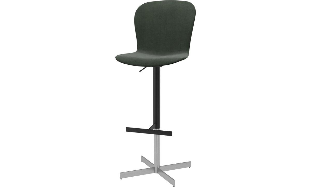 Barstole - Adelaide barstol med gaspatron - Grøn - Stof