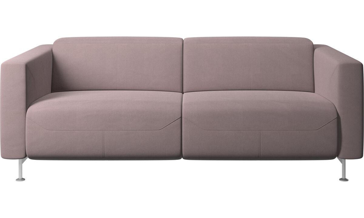 Sofás reclinables - Sofá reclinable Parma - Morado - Tela