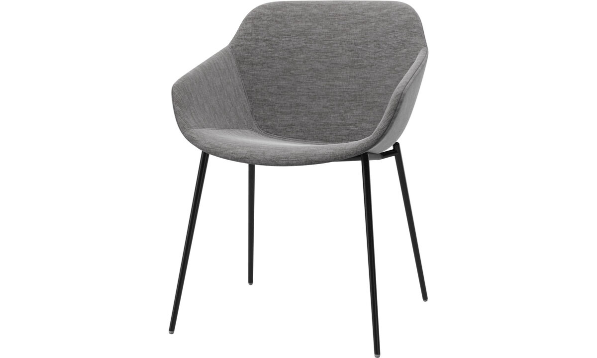 Dining chairs - Vienna chair - Grey - Fabric