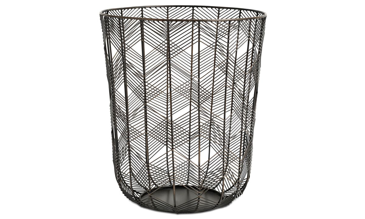 New designs - wire basket - Brown - Metal