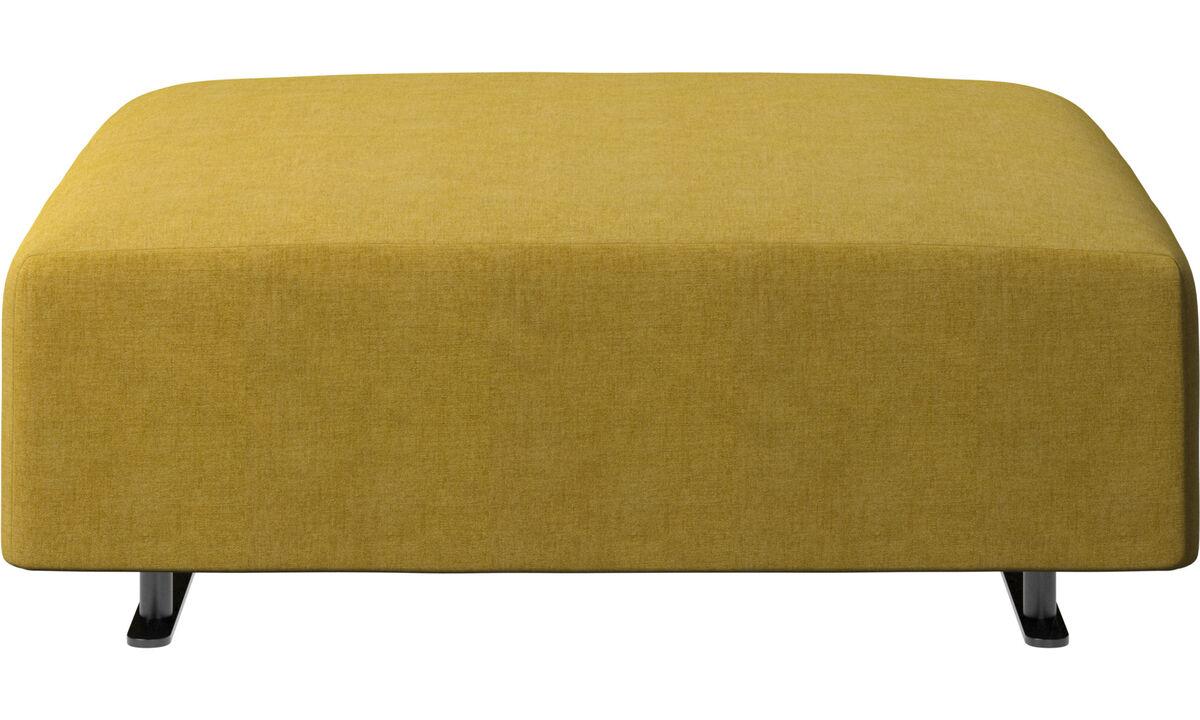 Footstools - Hampton footstool - Yellow - Fabric