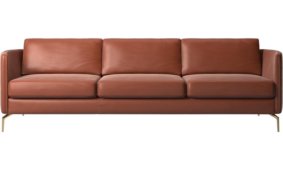 3 seater sofas - Osaka sofa, regular seat - Brown - Leather