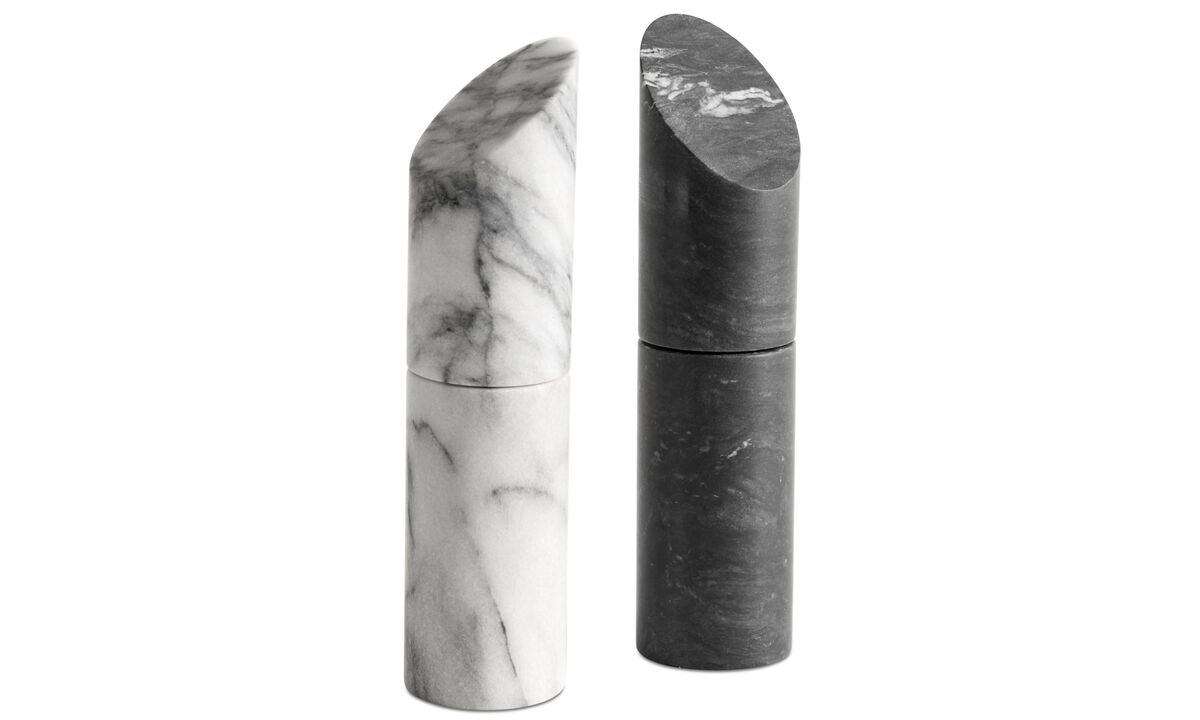 Functional accessories - Living salt and pepper mill - Black - Stone