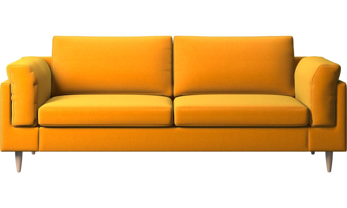 2.5 seater sofas - Indivi sofa - Orange - Fabric