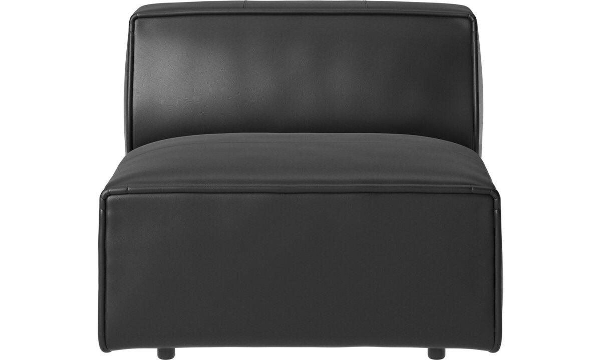Sofás modulares - Silla/módulo básico Carmo - En negro - Piel