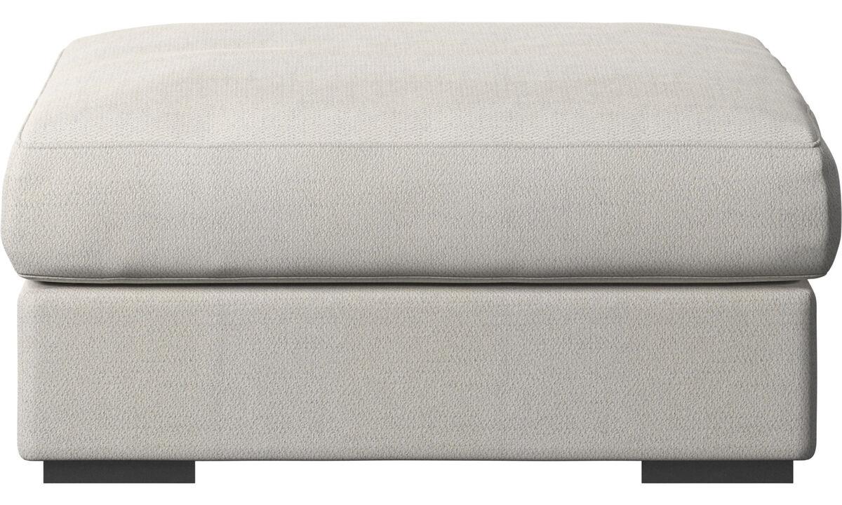 软垫凳 - Cenova 脚凳 - 白色 - 布艺