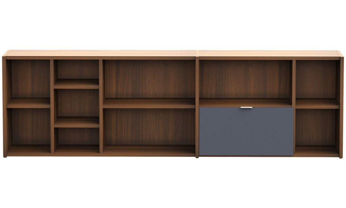 Wall Units - Copenhagen wall system - Brown - Walnut