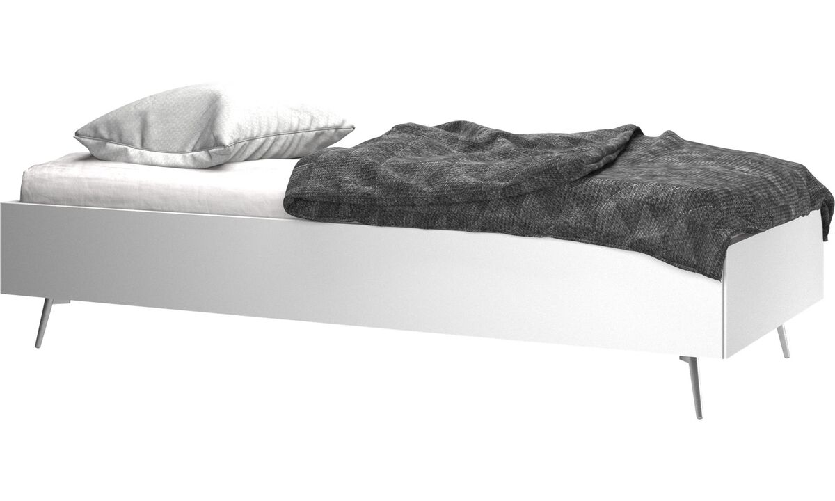 New beds - Lugano bed, excl. mattress - White - Lacquered