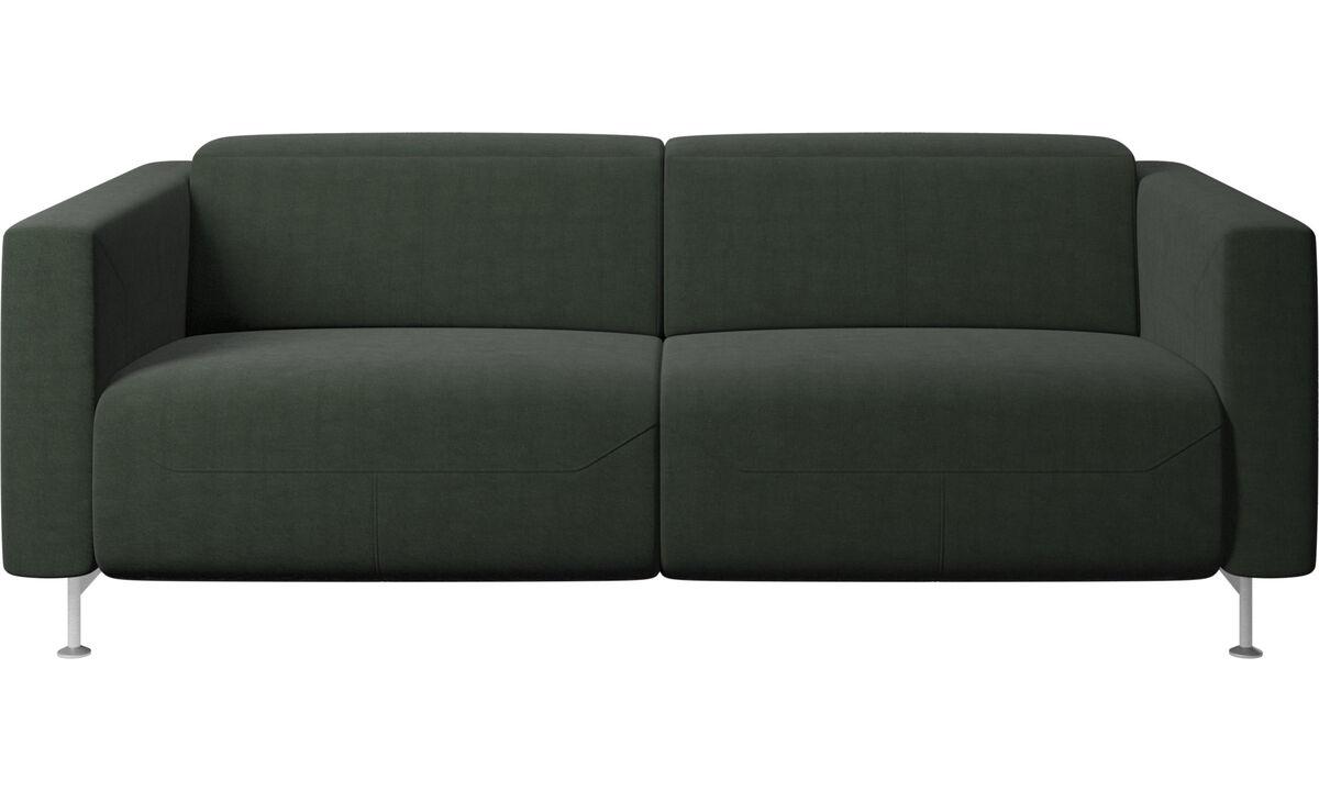 Recliner sofas - Parma reclining sofa - Green - Fabric