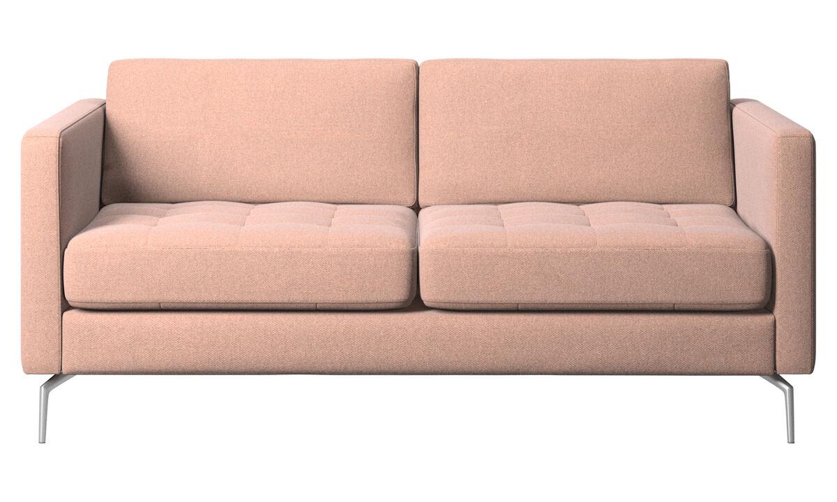 2 seater sofas - Osaka sofa, tufted seat - Red - Fabric