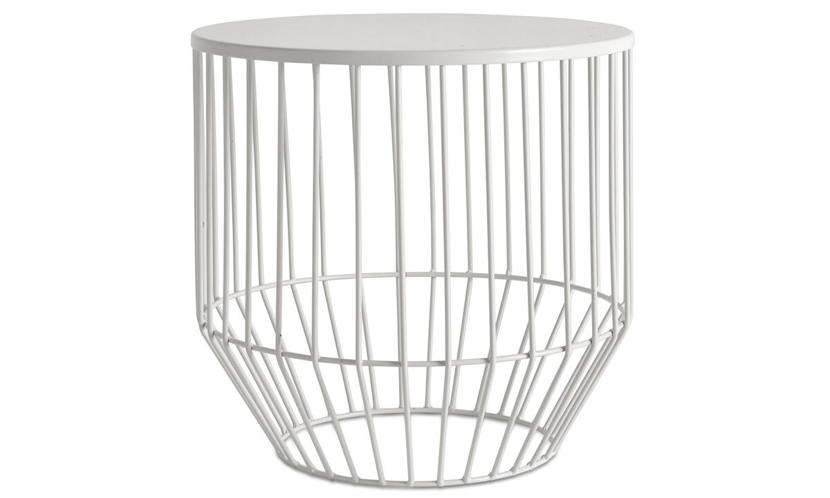 Stools - Wire stool - White - Metal