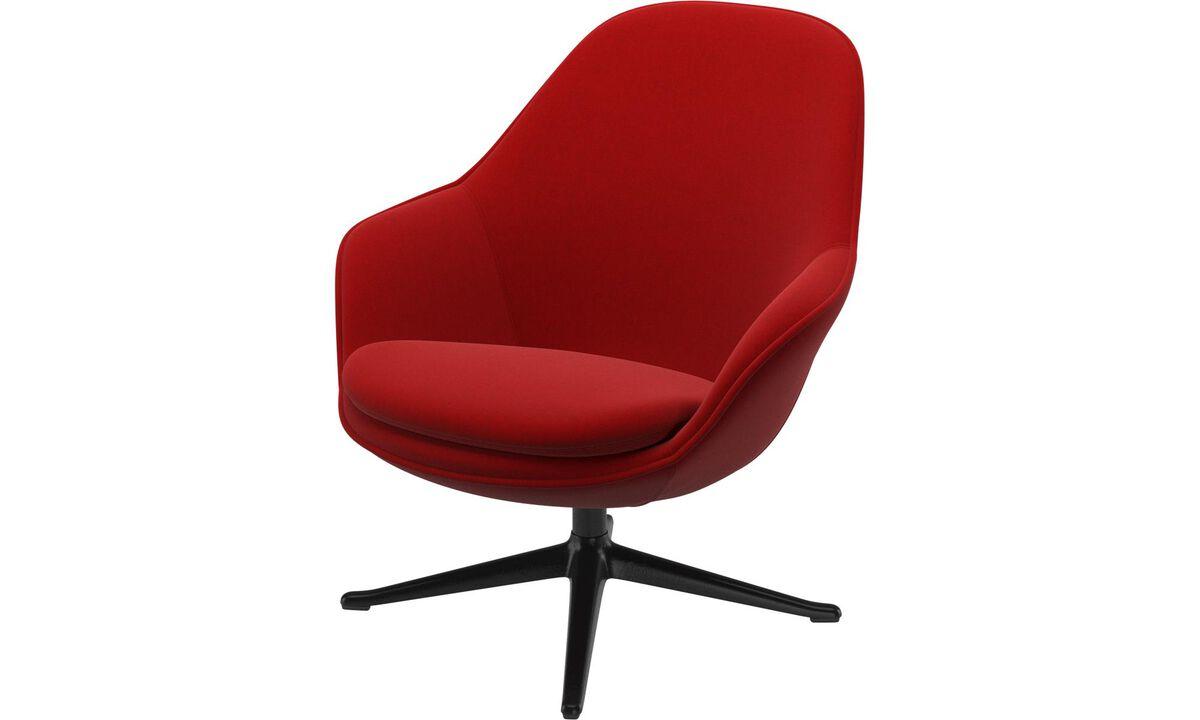 Lænestole - Adelaide lænestol - Rød - Stof
