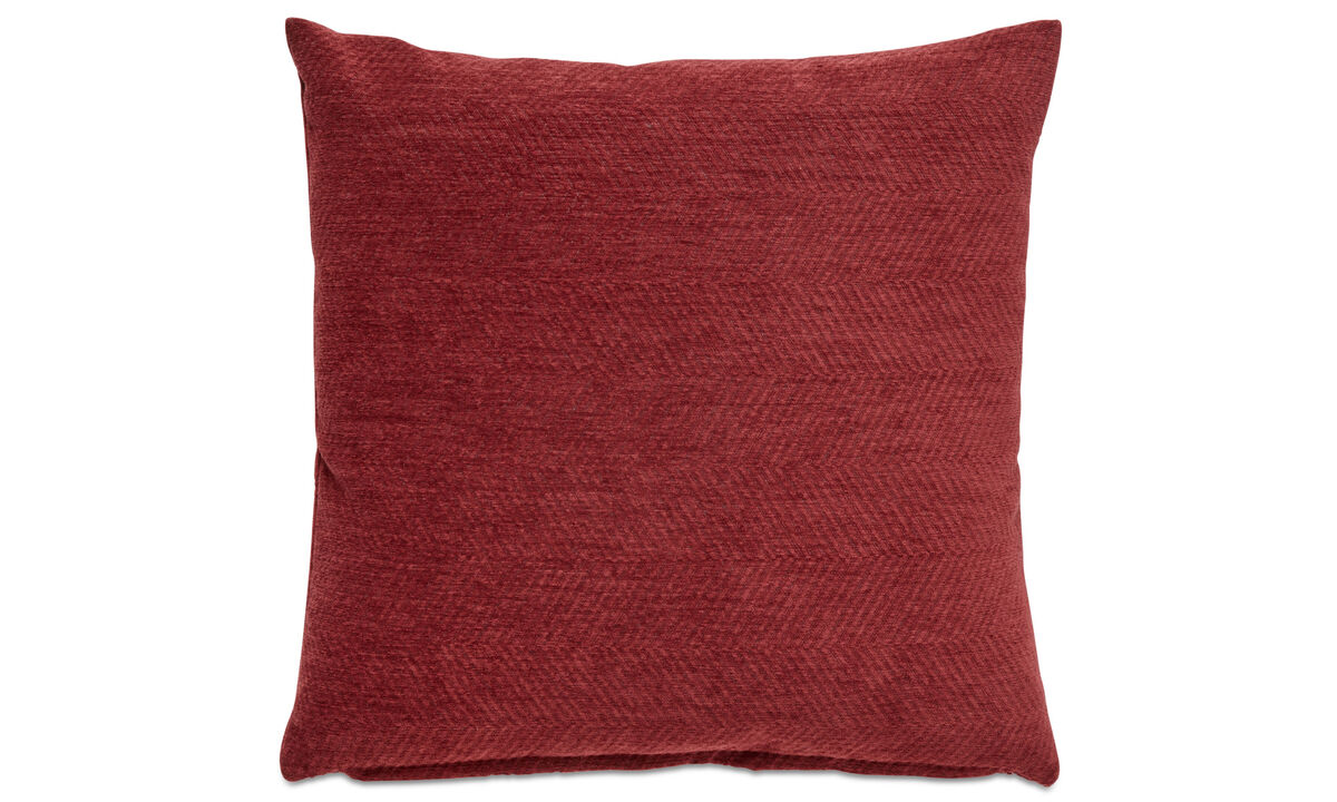 Patterned cushions - Herring bone cushion - Red - Fabric