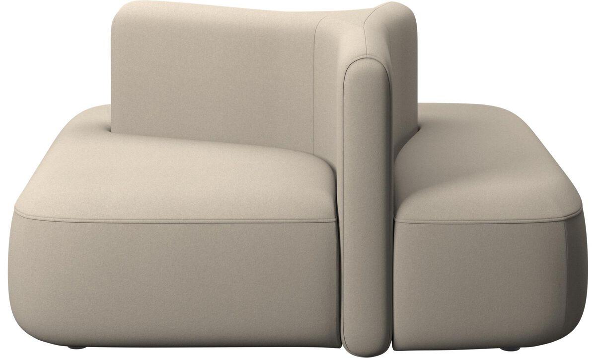 Modulárne sedačky - štvorcový modul Ottawa s nízkou opierkou - Béžová - Látka