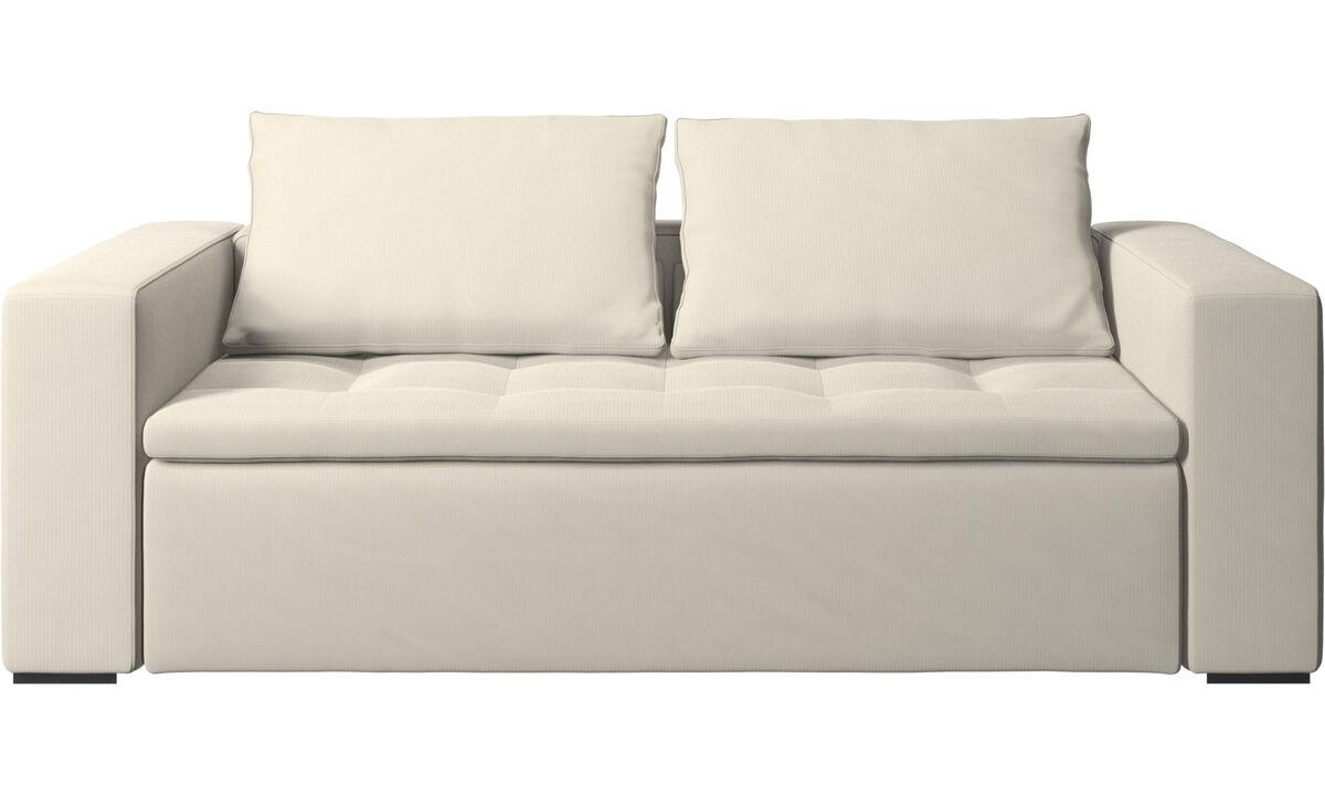 2.5 seater sofas - Mezzo sofa - White - Fabric