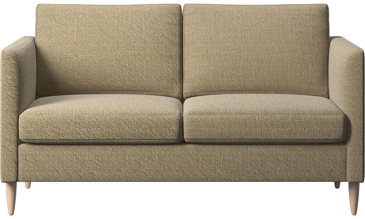 Sofás de 2 plazas - sofá Indivi - En amarillo - Tela