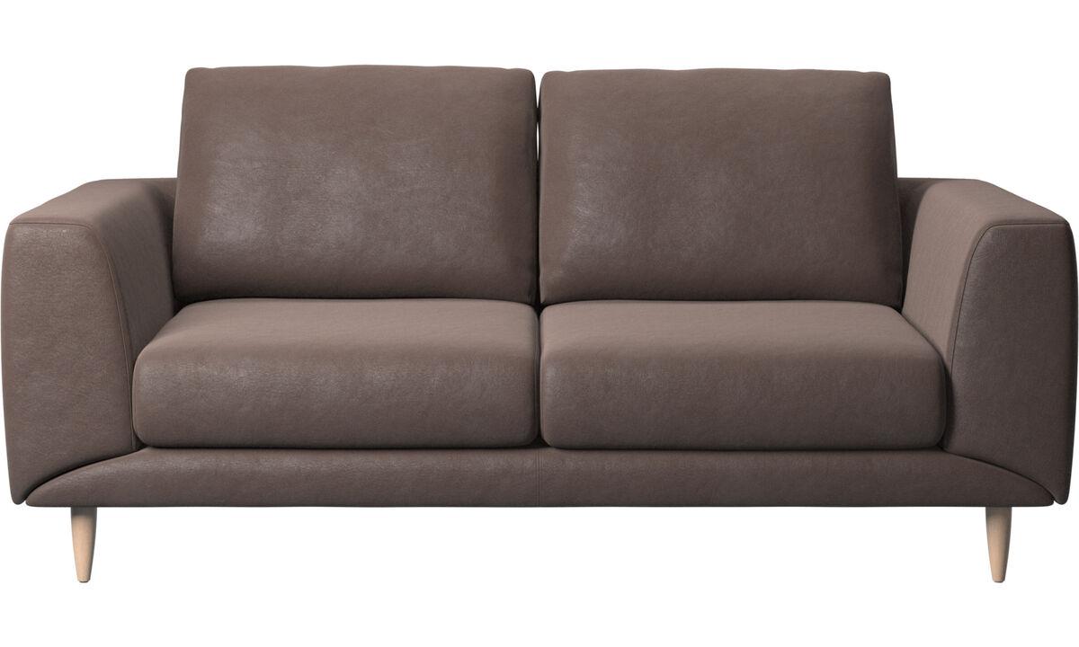 2 seater sofas - Fargo sofa - Brown - Leather