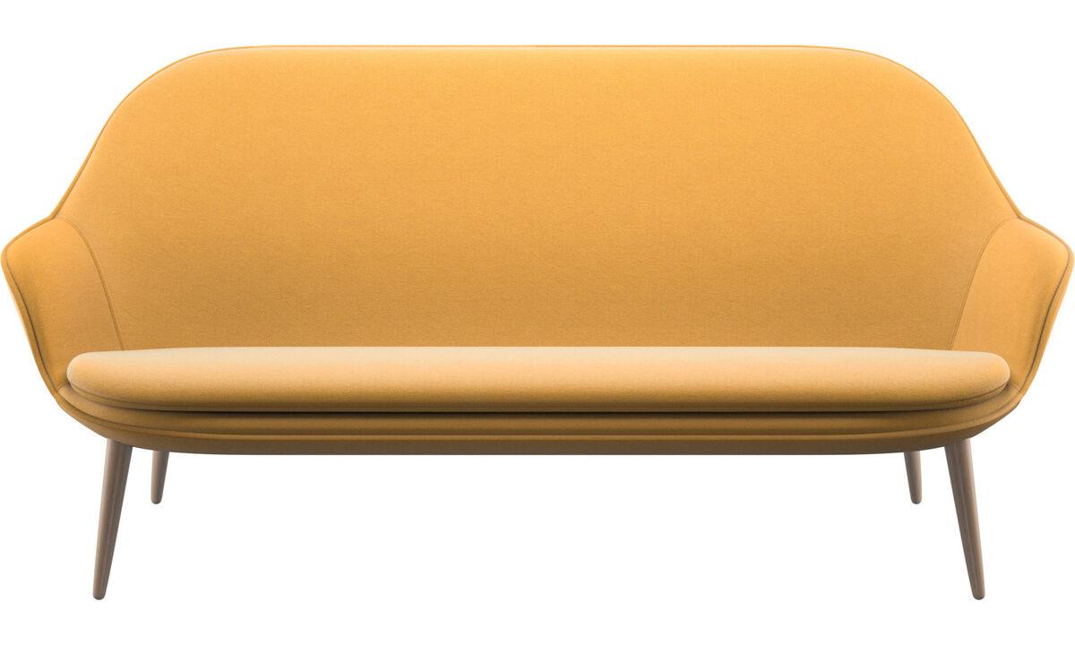 2.5 seater sofas - Adelaide sofa - Yellow - Fabric
