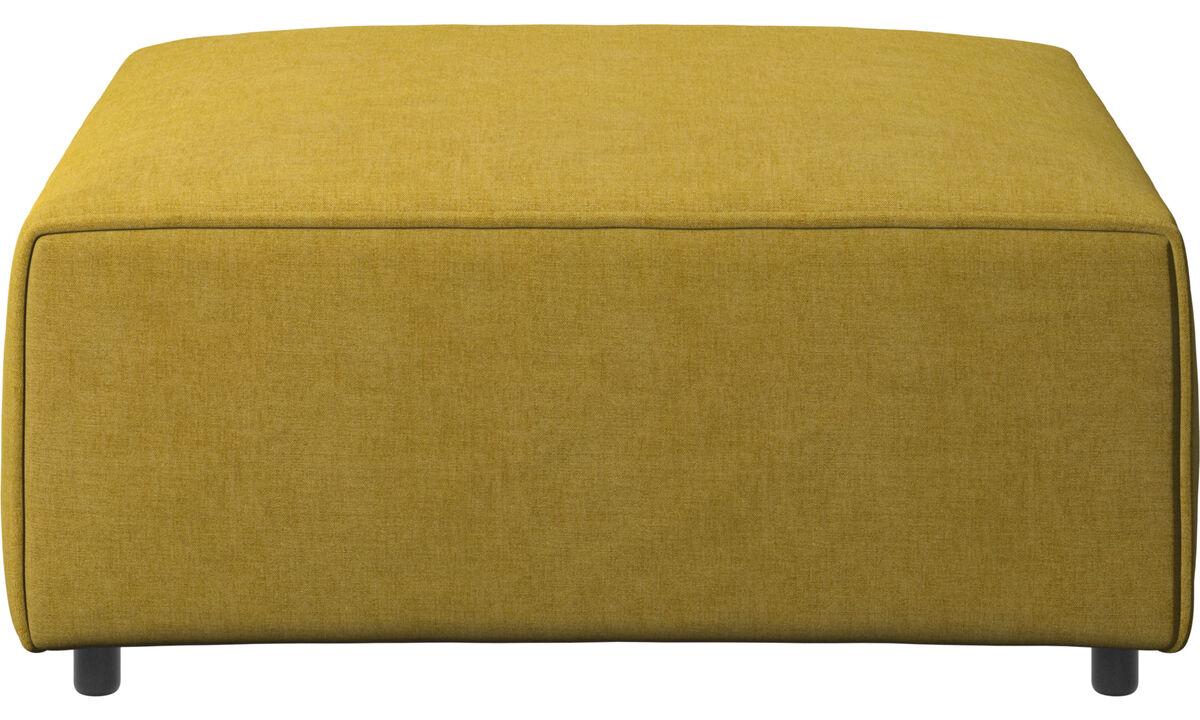 Modular sofas - Carmo footstool - Yellow - Fabric