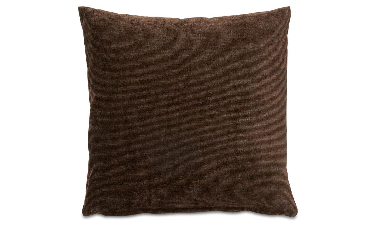 Cojines - cojín Velvet rough - En marrón - Tela