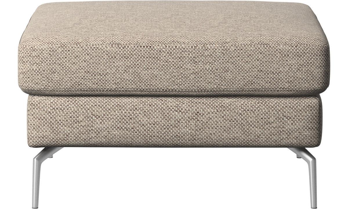 Poufs & repose-pieds - Pouf Osaka, assise classique - Beige - Tissu