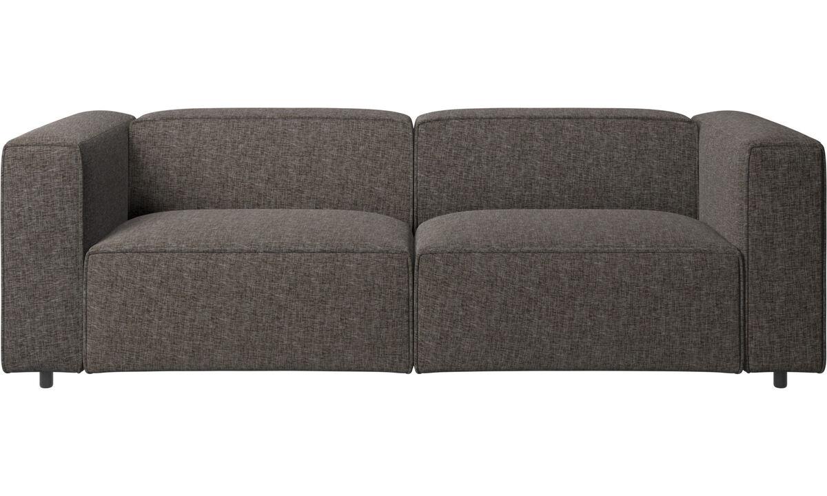 Sofás reclinables - Sofá Carmo con movimiento - En marrón - Tela