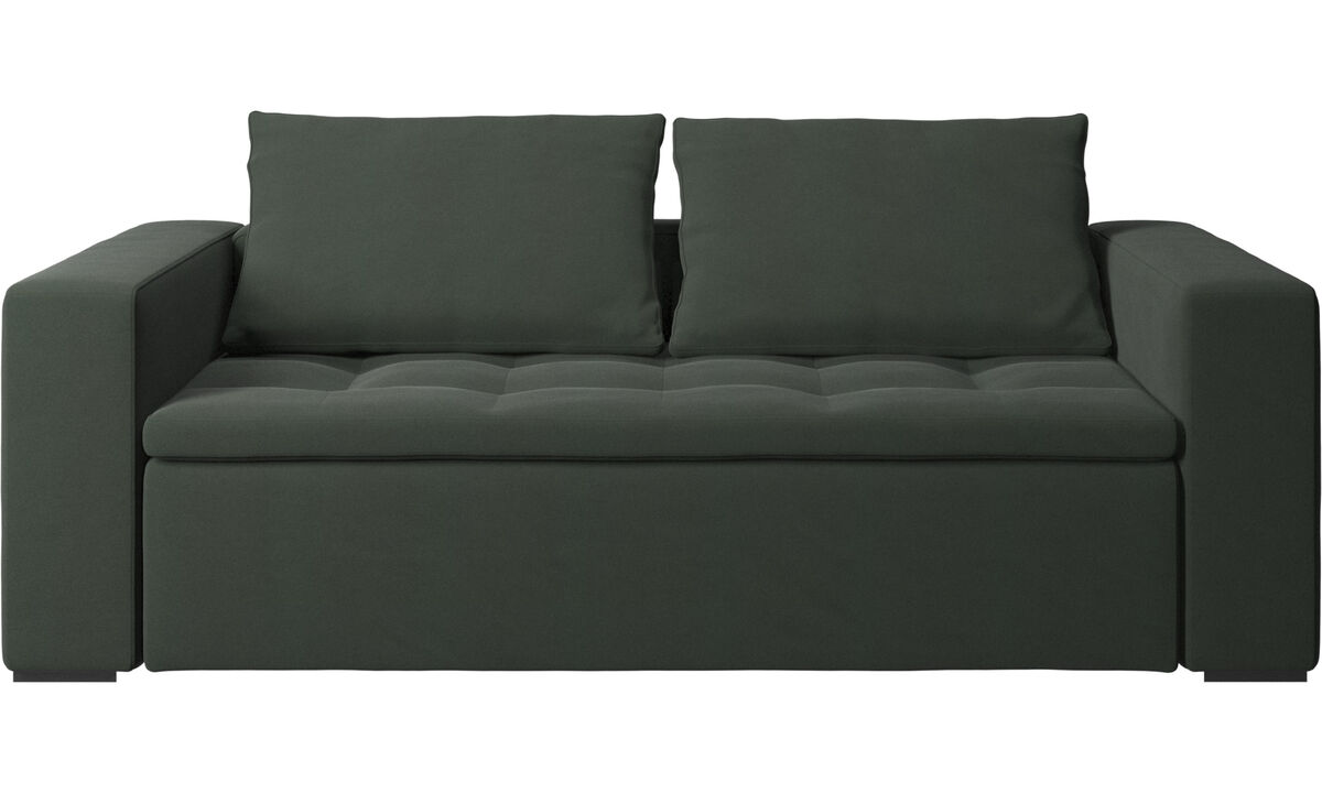 Sofás de 2 lugares e meio - Sofá Mezzo - Verde - Tecido
