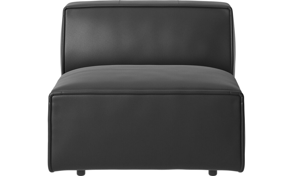 Armchairs - Carmo chair/basic unit - Black - Leather