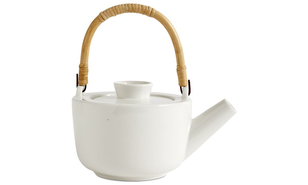Dinnerware - nora tea pot - White - Ceramic