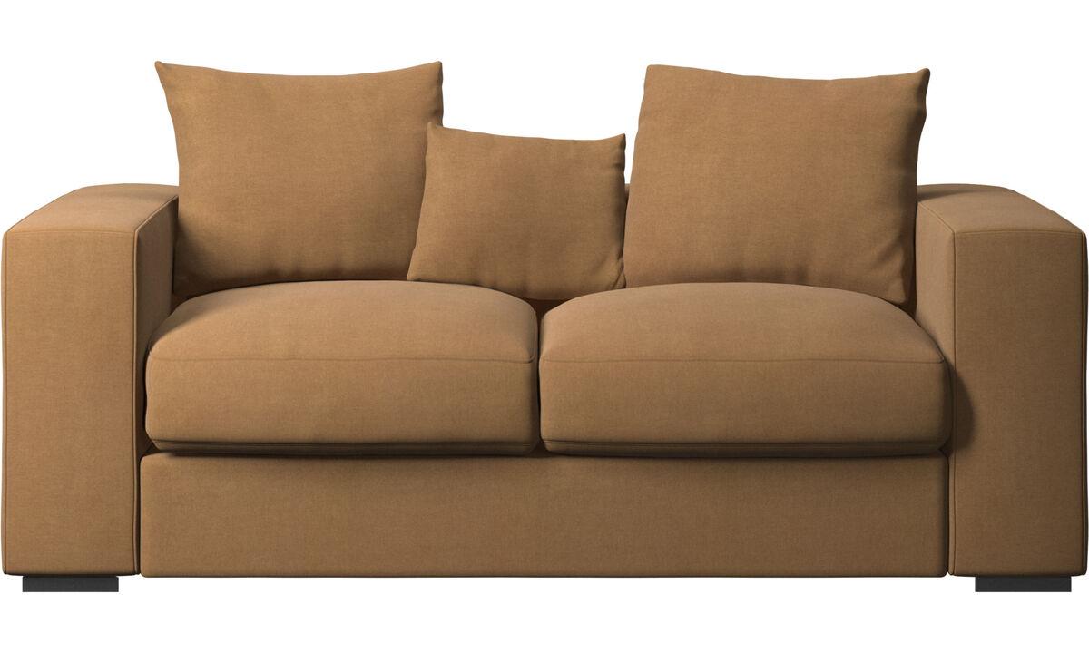 2 seater sofas - Cenova sofa - Brown - Fabric