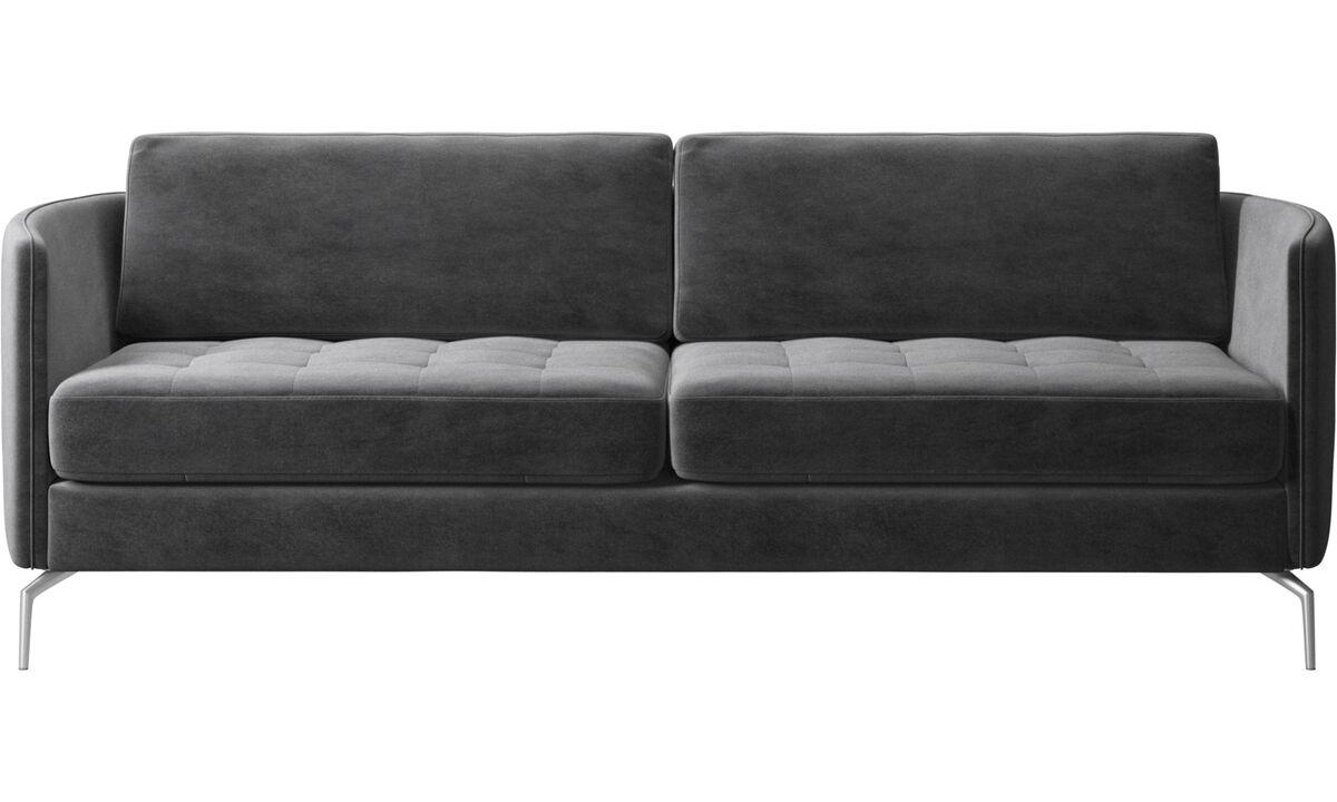 2.5 seater sofas - Osaka sofa, tufted seat - Gray - Fabric