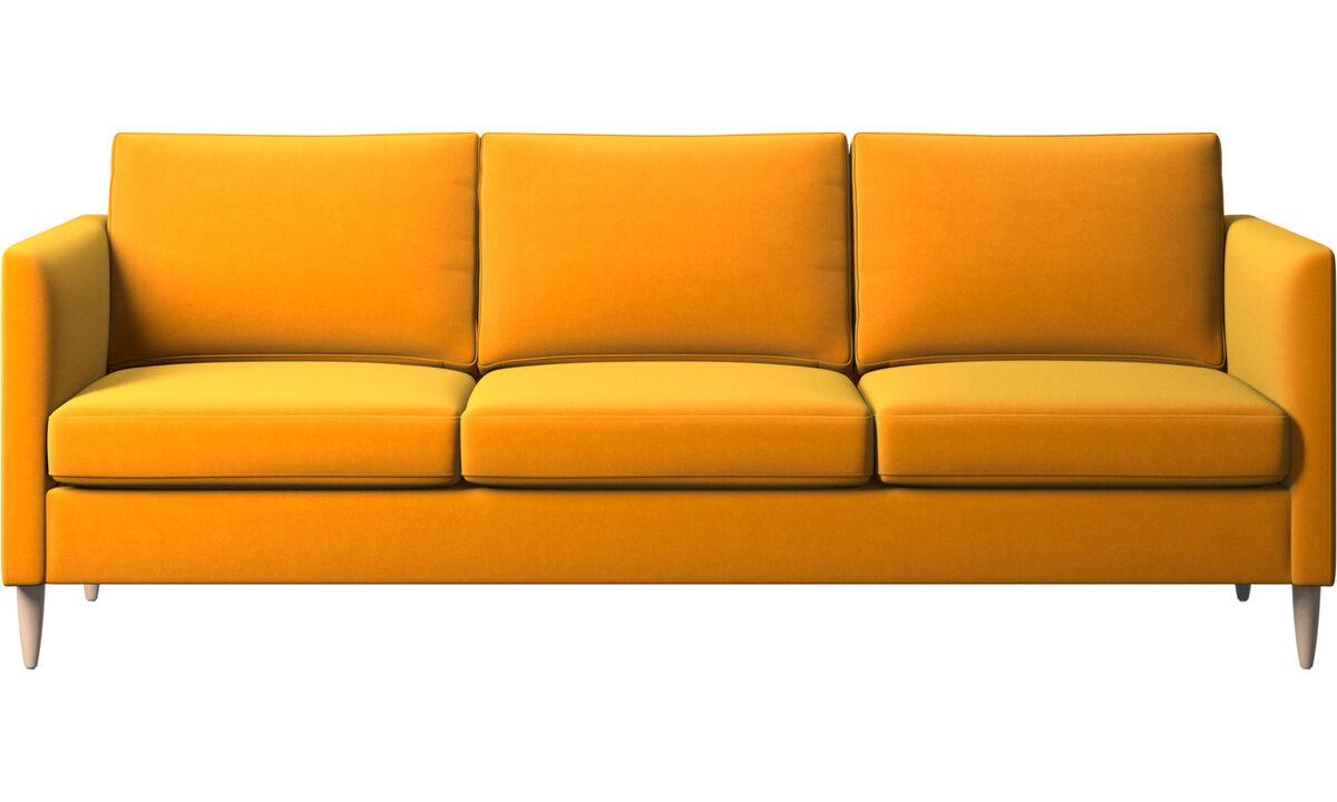 Sofás de 3 lugares - sofá Indivi - Laranja - Tecido